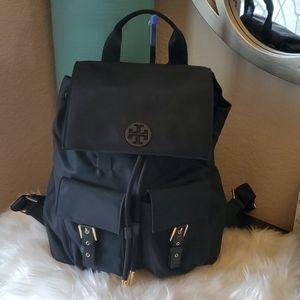 Tory Burch Quinn Black Nylon Backpack   NWOT